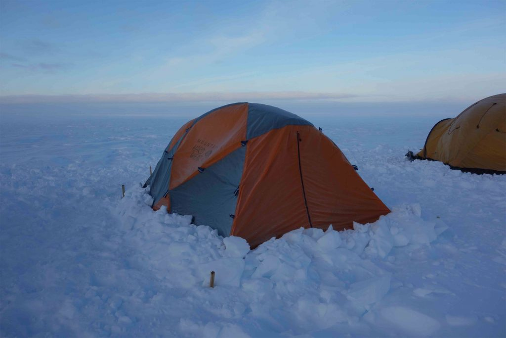 Nos tentes au premier camp de base