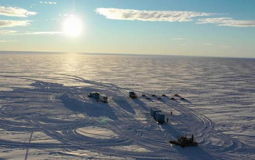Vue du camp réalisée par un drone (Photo Nader Wever)